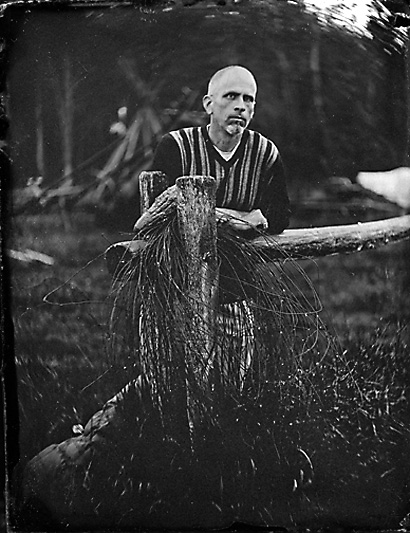 Ambrotype Self-Portrait by Bryan Hiott (2008)
