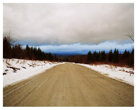 Access Road Through Paper Mill Land, Jackman, Maine. Kily Anderson-Staley.