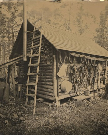 Tintype of Coffer's cabin by Fred Conrad (2006)