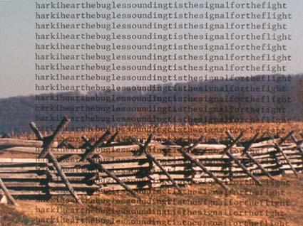Bloody Lane by Lee Etheridge, IV.  C-print 18.5 x 19 (2002)