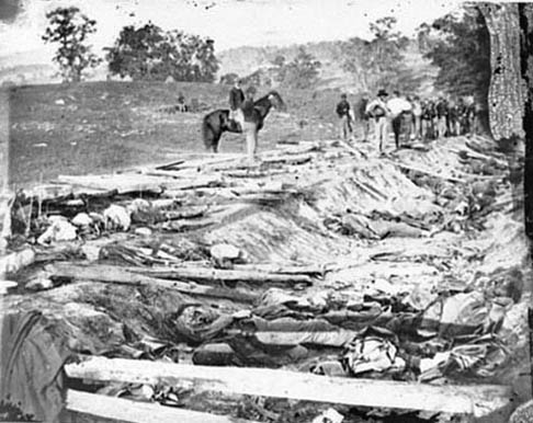 Confederate Dead in Bloody Lane by Alexander Gardner