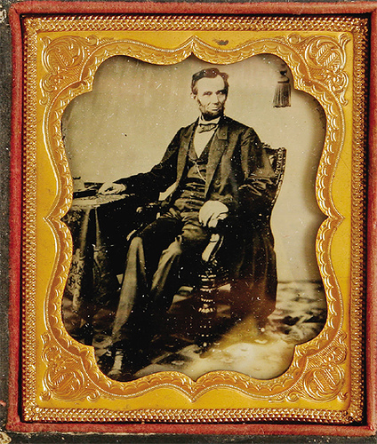 1/4 Plate Tintype of Abraham Lincoln