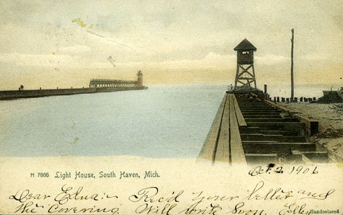 Lighthouse at South Haven, Michigan
