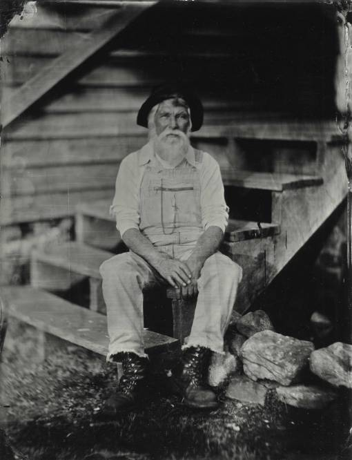 Portrait of Robert Perry at Hagood Mill, Pickens, SC.