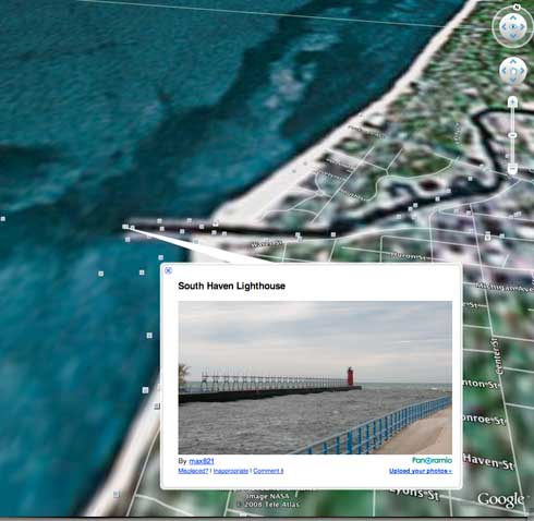 Screen Shot from Google Earth Fly Over