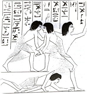 Egyptian Depiction of Wrestling (2500 B.C.)
