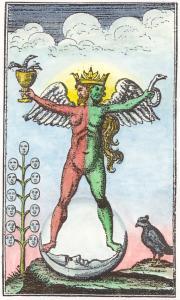 Engraving from an 18th century version of the Rosarium philosophorum.
