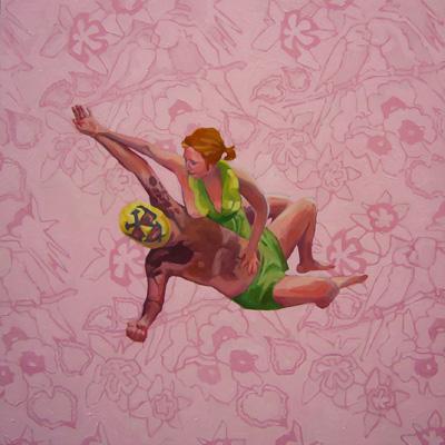 "Pieta by Emily Bicht (Mixed Media on Panel, 24"" x 24"")"