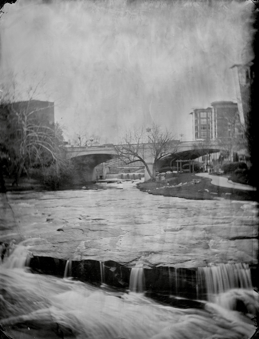 Reedy River, Greenville, SC (2013) Tintype photograph by Bryan Hiott.
