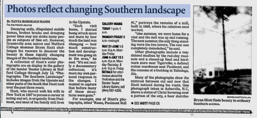 Hiott - Spartanburg Herald-Journal (May 13, 2001)