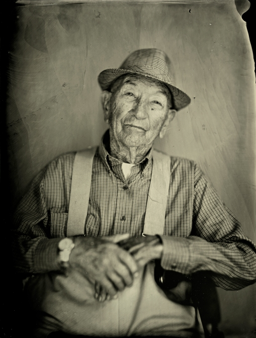 Tintype of Robert L. Rice by Bryan Hiott