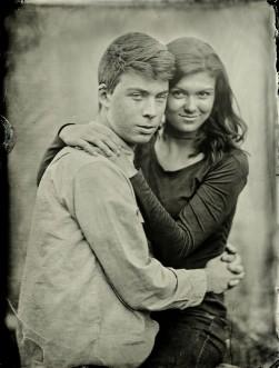 Jamie and Anna - Tintype